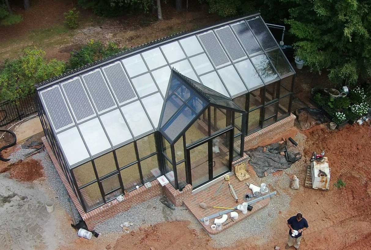 Solar Panel To Your Greenhouse Make New Home Addition Something Special