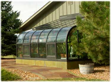 curved lean-to greenhouse