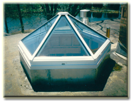Quality glass aluminum canopies for Greenhouse skylights